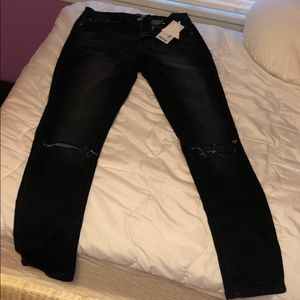 Faded distressed boohoo skinny jeans